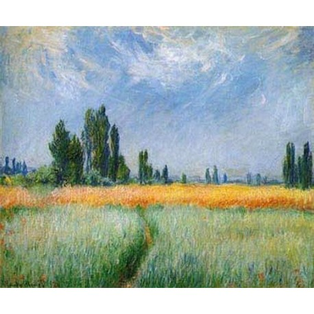 The Wheatfield by Claude Oscar Monet - Art gallery oil painting reproductions