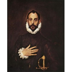 The Knight with His Hand on His Breast by El Greco-Art gallery oil painting reproductions