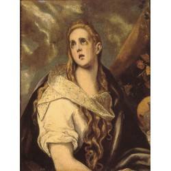 The Penitent Magdalen by El Greco-Art gallery oil painting reproductions