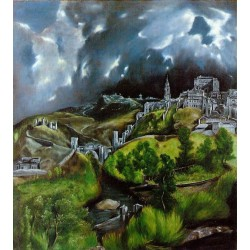 View of Toledo by El Greco-Art gallery oil painting reproductions