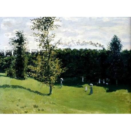 Train In the Country by Claude Oscar Monet - Art gallery oil painting reproductions