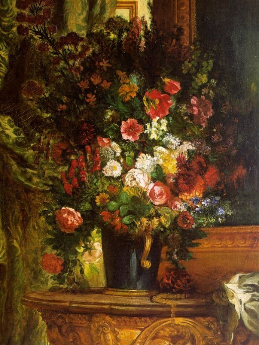 Bouquet of Flowers on a Console\