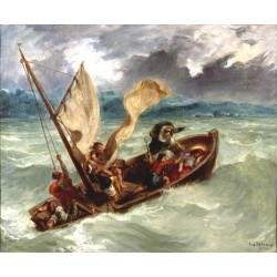 Christ on the Sea of Galilee by Eugène Delacroix-Art gallery oil painting reproductions