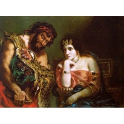 Cleopatra and the Peasant by Eugène Delacroix-Art gallery oil painting reproductions