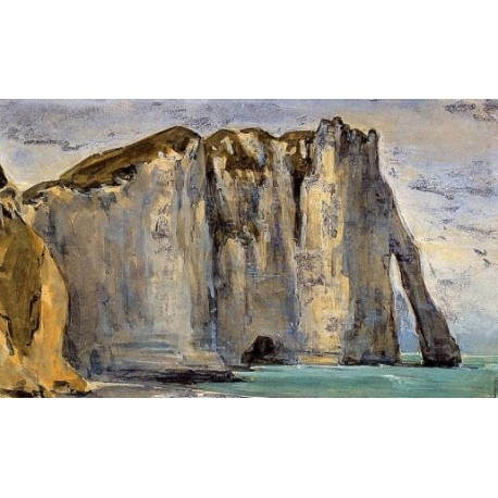 Cliff at Etretat by Eugene Delacroix -Art gallery oil painting reproductions