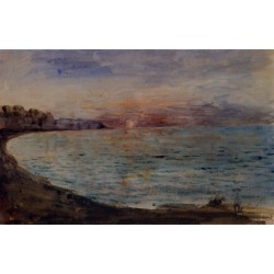 Cliffs near Dieppe by Eugène Delacroix-Art gallery oil painting reproductions
