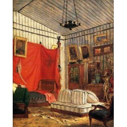 Count de Mornay's Apartment by Eugène Delacroix-Art gallery oil painting reproductions