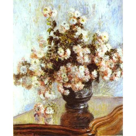 Vase with Flowers by Claude Oscar Monet - Art gallery oil painting reproductions