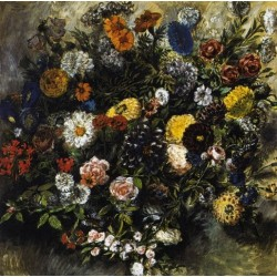 Bouquet of Flowers by Eugene Delacroix-Art gallery oil painting reproductions