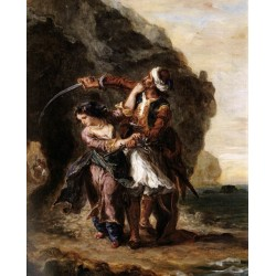 The Bride of Abydos by Eugene Delacroix-Art gallery oil painting reproductions
