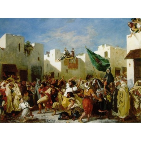 Fanatics of Tangier by Eugène Delacroix-Art gallery oil painting reproductions