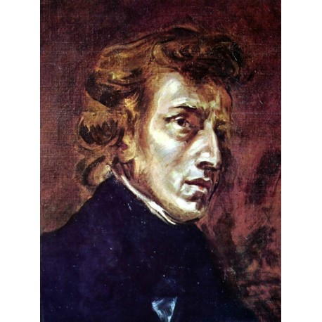 Frédéric Chopin 1838 by Eugène Delacroix-Art gallery oil painting reproductions
