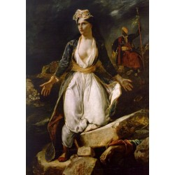 Greece on the Ruins of Missolonghi by Eugène Delacroix-Art gallery oil painting reproductions