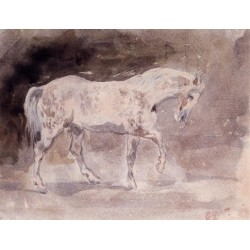 Horse by Eugène Delacroix-Art gallery oil painting reproductions