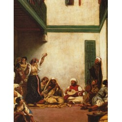 Jewish Wedding in Morocco, detail 1839 by Eugène Delacroix -Art gallery oil painting reproductions
