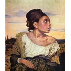Orphan Girl at the Cemetery 1823 by Eugène Delacroix-Art gallery oil painting reproductions