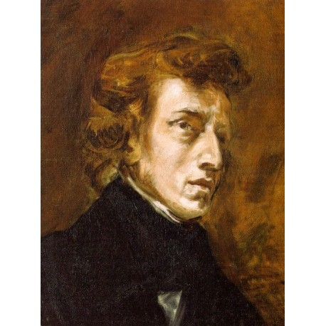 Portrait of Frederic Chopin by Eugène Delacroix-Art gallery oil painting reproductions