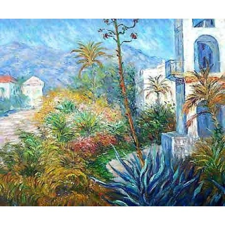 Villas in Bordighera by Claude Oscar Monet - Art gallery oil painting reproductions