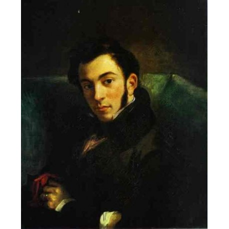 Portrait of Frederic Villot. 1832 by Eugene Delacroix -Art gallery oil painting reproductions