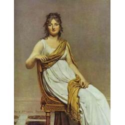 Portrait of Madame de Verninac, nee Henriette Delacroix, Sister of Eugene, 1799 by Eugene Delacroix