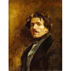 Self Portrait by Eugène Delacroix-Art gallery oil painting reproductions