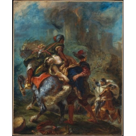 The Abduction of Rebecca 1846 by Eugène Delacroix-Art gallery oil painting reproductions