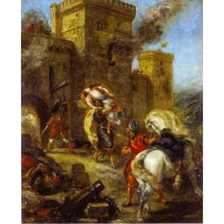 Quot The Abduction Of Rebecca 1858 Quot By Eugene Delacroix Fine Art Oil Painting Reproductions