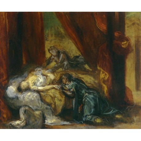 The Death of Desdemona 1858 by Eugène Delacroix-Art gallery oil painting reproductions