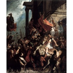 The Justice of Trajan 1858 by Eugène Delacroix-Art gallery oil painting reproductions