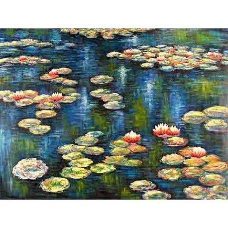 Water Lilies 2 by Claude Oscar Monet - Art gallery oil painting reproductions