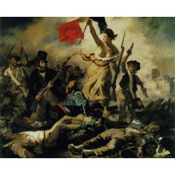 Liberty Leading the People by Eugène Delacroix-Art gallery oil painting reproductions