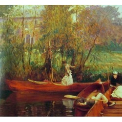Boating Party 1889 by John Singer Sargent - Art gallery oil painting reproductions