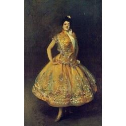 Carmencita 1890 by John Singer Sargent - Art gallery oil painting reproductions