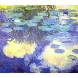 Water Lilies 3 by Claude Oscar Monet - Art gallery oil painting reproductions
