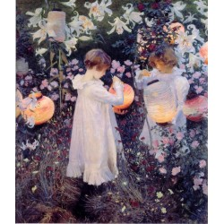Carnation Lily Lily Rose 1885-86 by John Singer Sargent - Art gallery oil painting reproductions