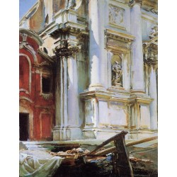 Church of St. Stae, Venice 1913 by John Singer Sargent - Art gallery oil painting reproductions
