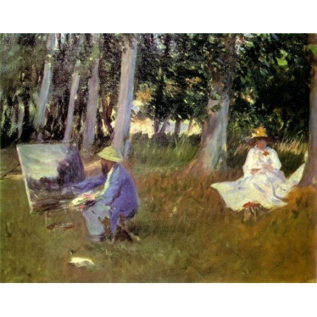 Claude Monet Painting 1887 by John Singer Sargent - Art gallery oil painting reproductions