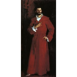 Dr. Samuel Jean Pozzi at Home 1881by John Singer Sargent - Art gallery oil painting reproductions