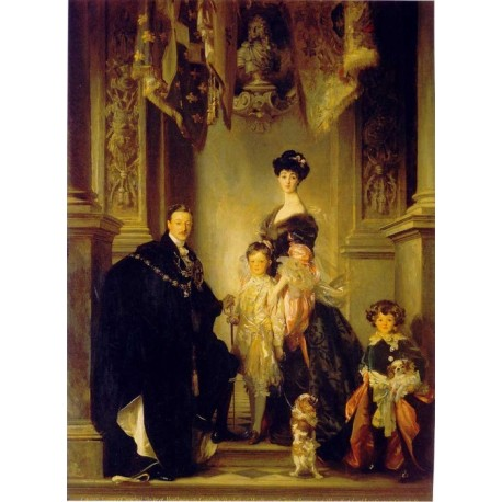 Duke of Marlborough Family 1905 by John Singer Sargent - Art gallery oil painting reproductions