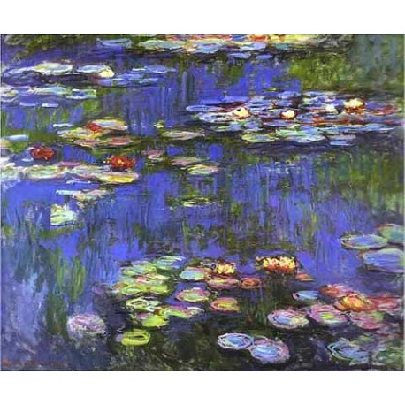 Water Lilies 4 by Claude Oscar Monet - Art gallery oil painting reproductions