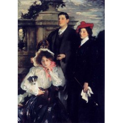 Hylda, Almina and Conway, Children of Asher Wertheimer 1905 by John Singer Sargent - Art gallery oil painting reproductions