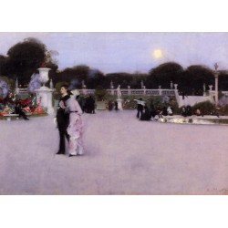 In the Luxembourg Gardens 1879 by John Singer Sargent - Art gallery oil painting reproductions