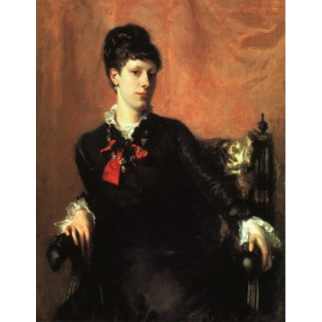 Miss Frances Sherborne Ridley Watts 1877 by John Singer Sargent - Art gallery oil painting reproductions