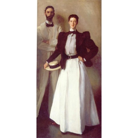 Mr. and Mrs. Isaac Newton Phelps Stokes 1897 by John Singer Sargent - Art gallery oil painting reproductions