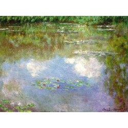 Water Lilies Clouds by Claude Oscar Monet - Art gallery oil painting reproductions