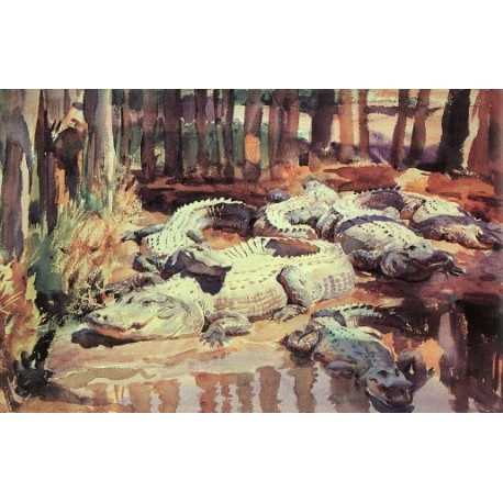 Muddy Alligators 1917 by John Singer Sargent - Art gallery oil painting reproductions