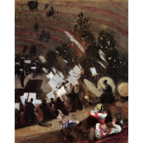 Rehearsal of the Pas de Loup Orchestra 1878 by John Singer Sargent - Art gallery oil painting reproductions