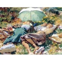 Siesta 1907 by John Singer Sargent - Art gallery oil painting reproductions