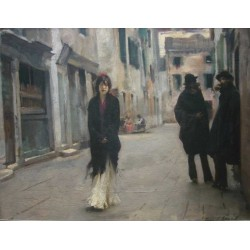 Street in Venice 1882 by John Singer Sargent - Art gallery oil painting reproductions