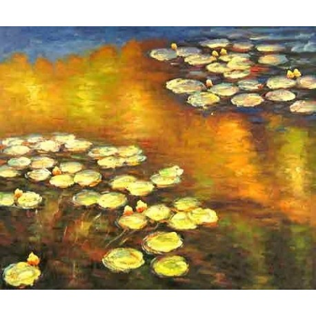 Water Lilies by Claude Oscar Monet - Art gallery oil painting reproductions